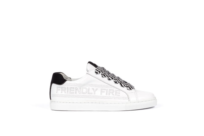 TENNIS FRIENDLY FIRE, SNEAKERS FRIENDLY FIRE, WHITE SNEAKERS FRIENDLY FIRE, ETERNAL COLLECTION