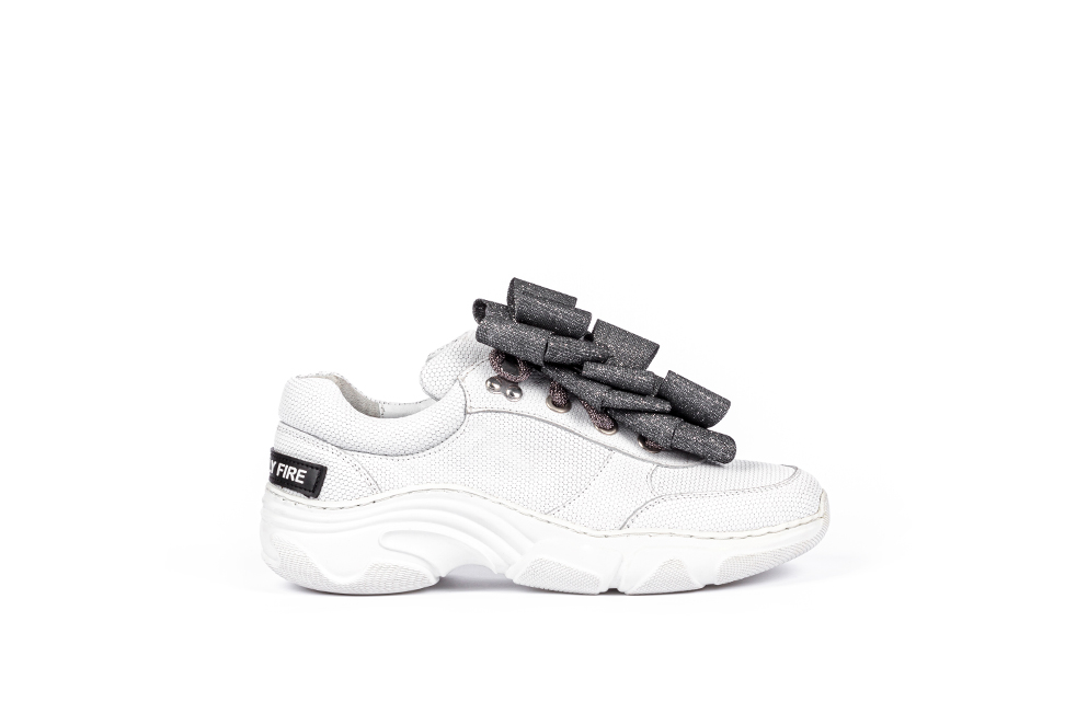 WHITE SNEAKERS, WHITE TENNIS,SNEAKERS WITH LACES, SHOES WITH LACES, ETERNAL COLLECTION, AW20 FRIENDLY FIRE